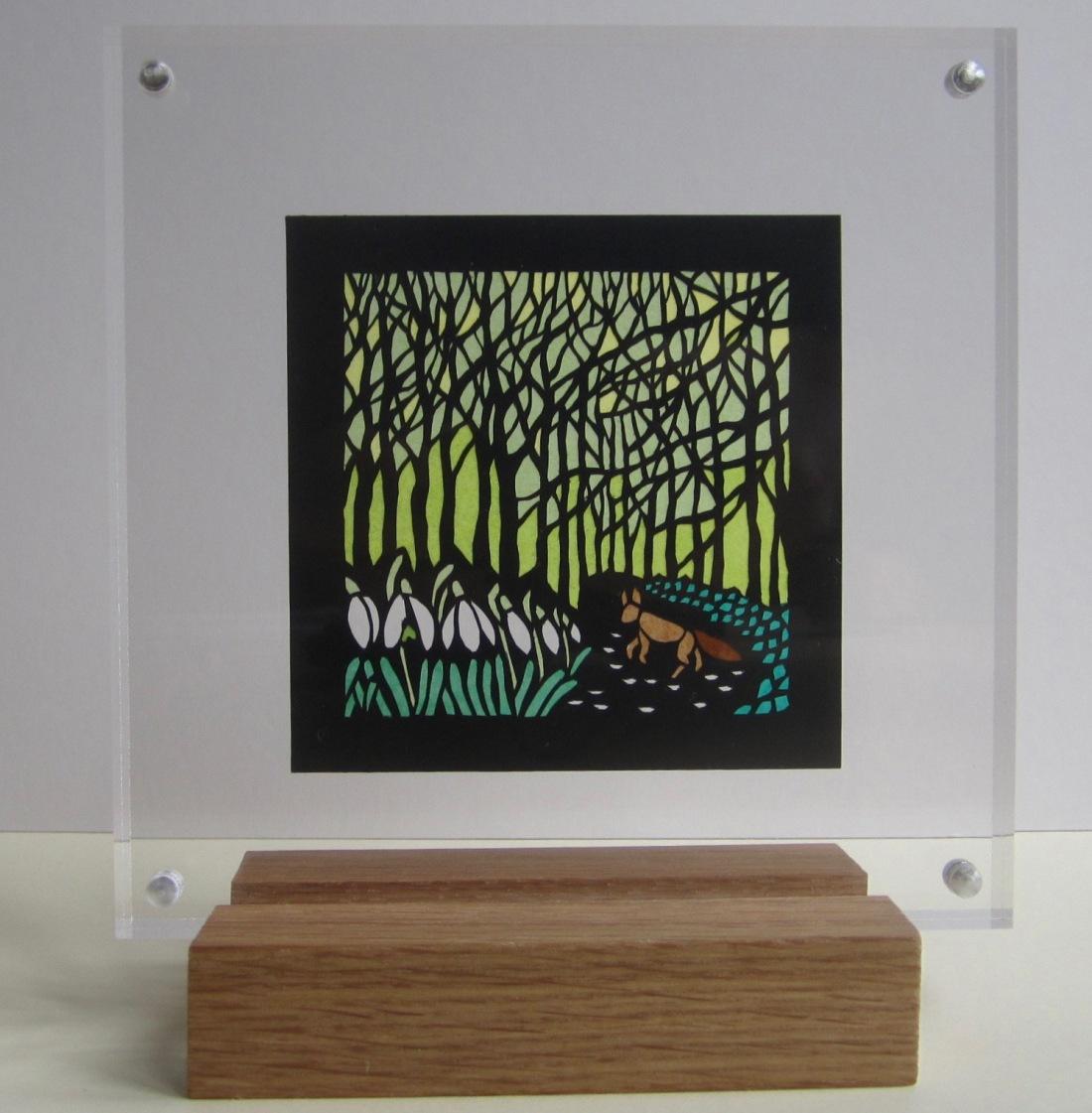 A Fox in Beech Woods